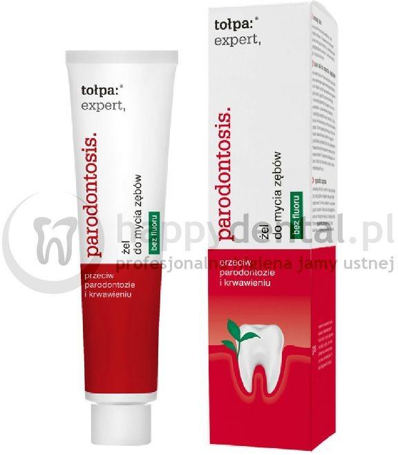 Tołpa TOŁPA Expert Parodontosis żel 75ml - pasta w do zębów w formie żelu o działaniu regenerującym i przeciwzapalnym dziąseł