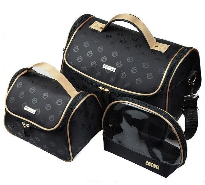 Noble Cosmetic Pojemny damski kuferek podróżny w kształcie torebki Blossom B005 B005