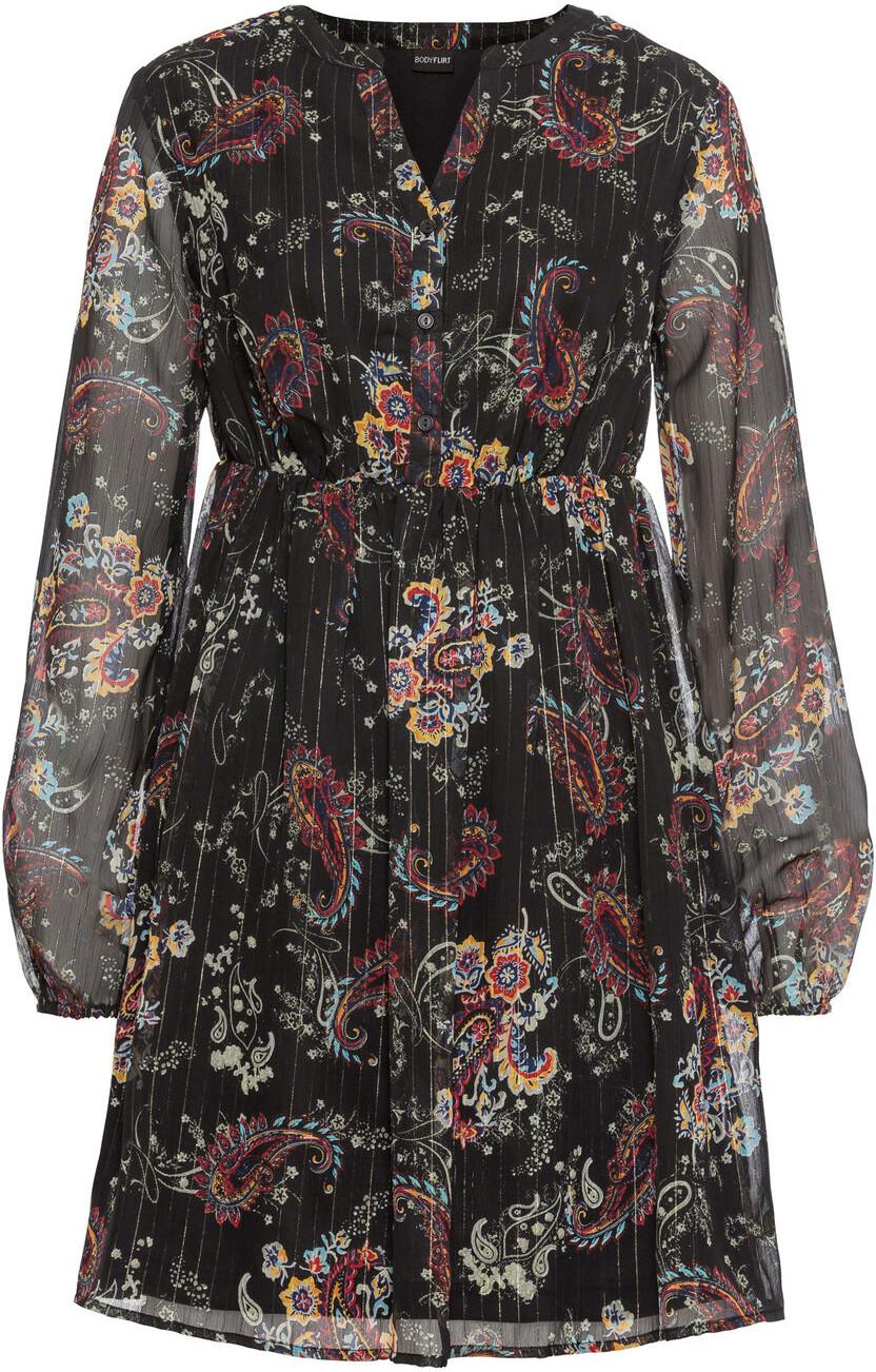 Bonprix Sukienka szyfonowa czarny