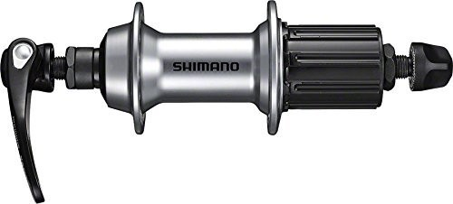 Shimano piasta koła tylnego Road FH-RS400 10/11-biegowa piasta koła tylnego 10/11-rzędowa 32 QR otworów: 163 MM SREBRNY Art-Nr. e-fhrs400 byas EFHRS400BYAS