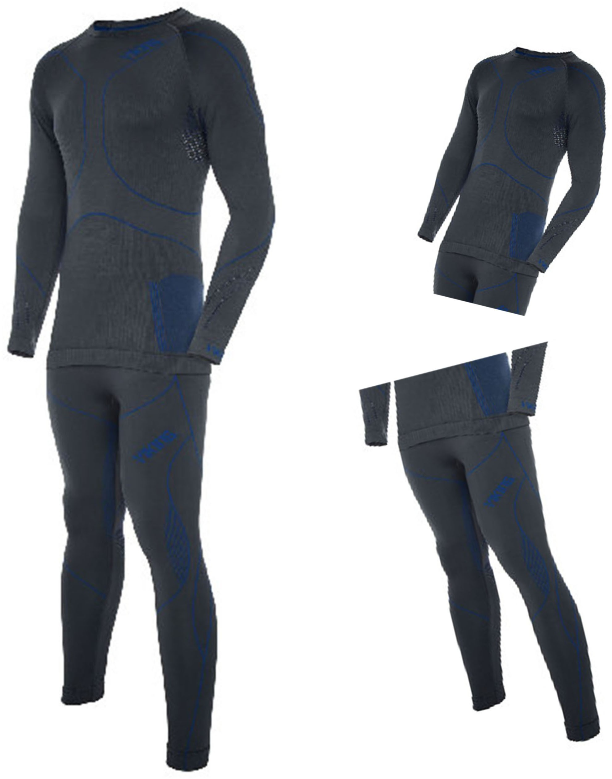 Viking Bielizna termoaktywna BRUNO męska L grafit-nieb (koszulka+spodnie) -OS-01_0389