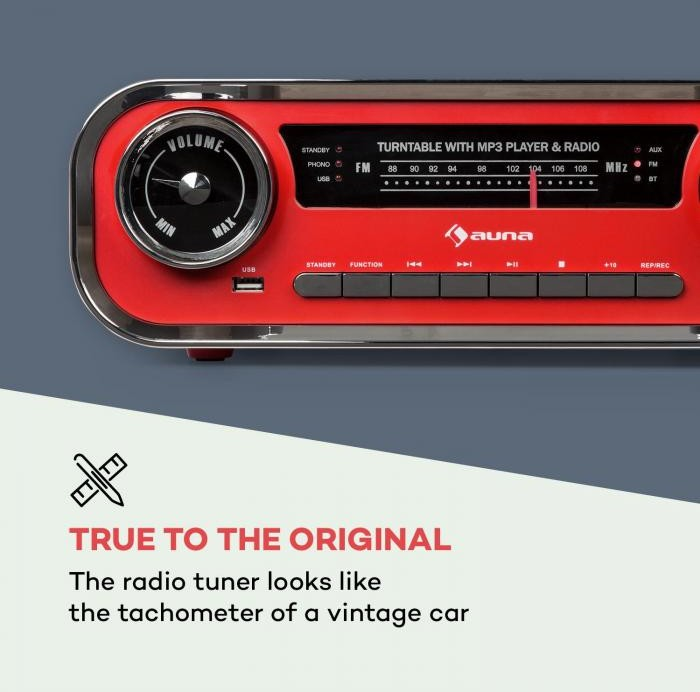 Auna TTS13-Challenger LP Czerwony