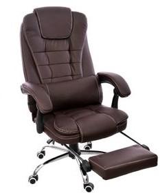 GIOSEDIO Fotel konferencyjny GIOSEDIO brązowy FBK003 z podnóżkiem rozkładane oparcie FBK003