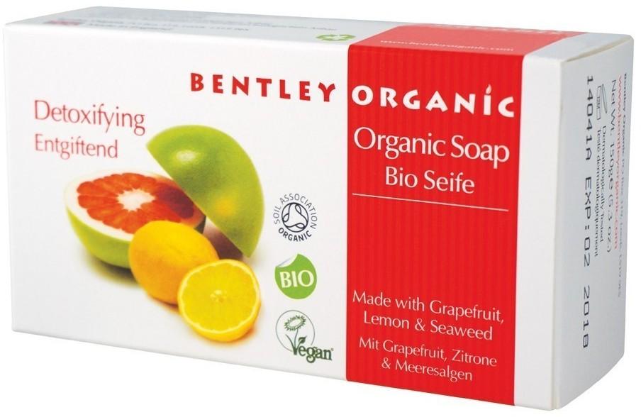 Bentley Organic Detoksykujące Mydło z Grejpfrutem Cytryną i Wodorostami,150g BEN01662