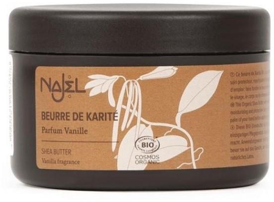 NAJEL Organiczne masło shea o zapachu waniliowym 100g
