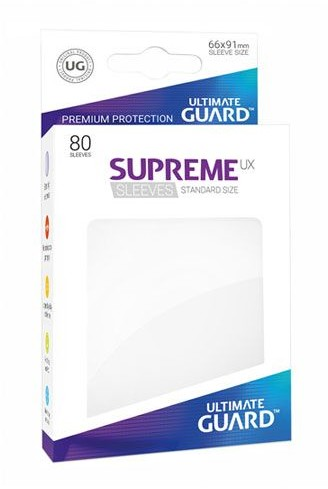Ultimate Guard Guard Supreme UX Sleeves Standard Size White (80)