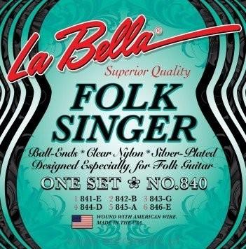 LaBella 840 Folk Singer struny do git. klasycznej