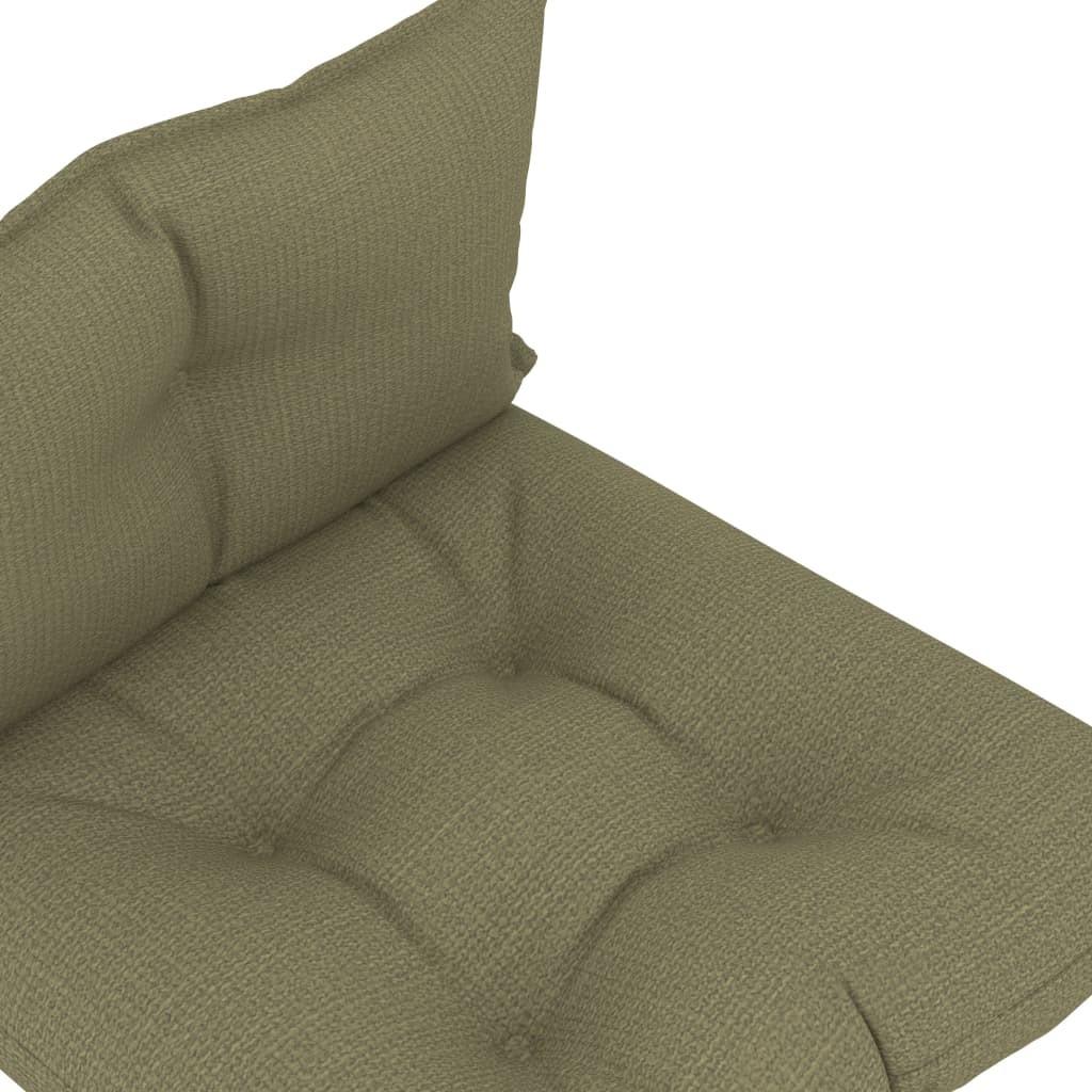 vidaXL Poduszki na sofę z palet, 2 szt., beżowe, tkanina vidaXL