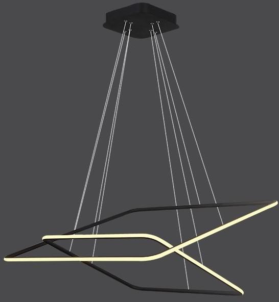 Altavola Design Lampa wisząca Ledowe Kwadraty No 4 czarna out 3k (LA077/P_80_out_3k_black)