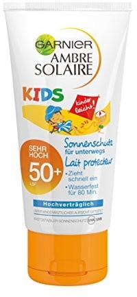Garnier Ambre Solaire kremu przeciwsłonecznego Kids/zabezpieczenie przed słońcem-mleka dla dzieci Extra wodoodporny/LSF 50 +, 1er Pack 50 ML C4262315