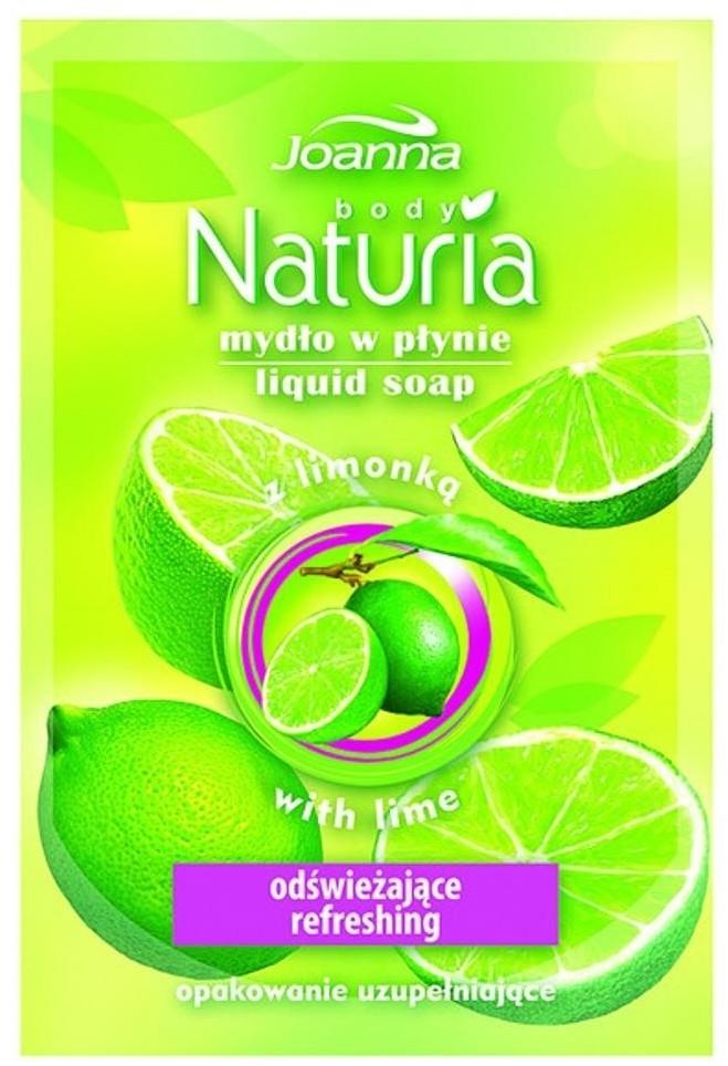 Joanna Naturia Body Liquid Soap mydło w płynie Limonka zapas 300ml 69606-uniw