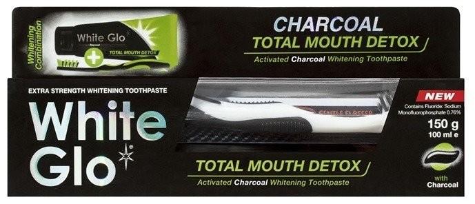 WHITE GLO WHITE GLO Total Mouth Detox Wybielająca pasta do zębów z aktywnym węglem 150g 45115-uniw