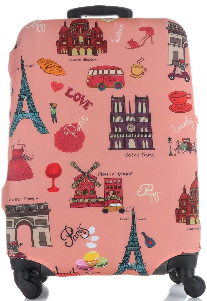 0988ebf780e1a Snowball Pokrowce na Walizki firmy Snowball w rozmiarze L Elastyczne i  Wytrzymałe Paris Multikolor Róż (