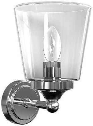 Nowodvorski Kinkiet LAMPA ścienna BALI 9353 minimalistyczna OPRAWA do łazienki IP44 chrom przezroczysta 9353