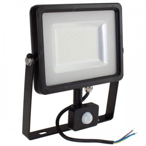 V-TAC Naświetlacz Halogen Reflektor 50W V-TAC LED z czujnikiem VT-4955 PIR