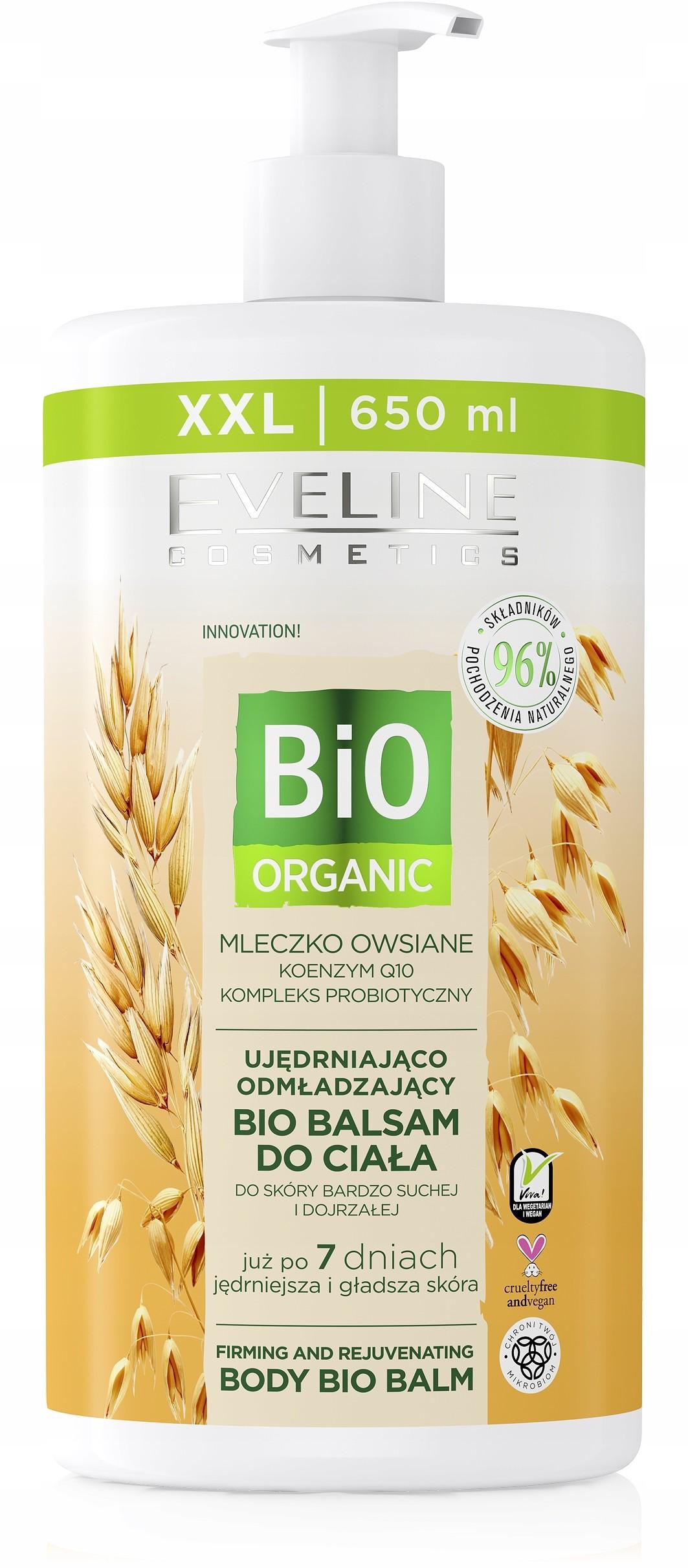 Eveline Bio Organic Balsam Mleczko Owsiane 650ML