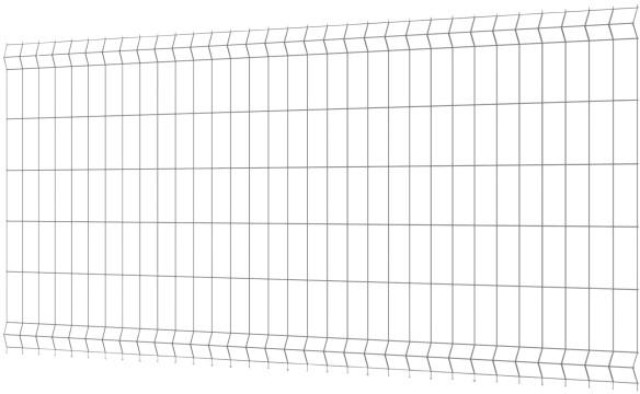 Polargos Panel ogrodzeniowy 1230 x 2500 x 3,2 mm ocynk