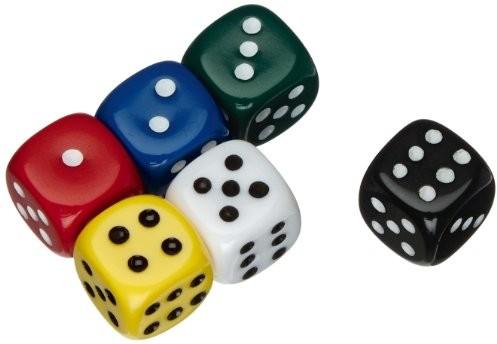 Weible Spiele Gry weible 05110akrylowa-kostki, uni, 10MM, 100szt.