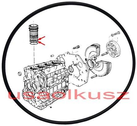 VM Oring uszczelniacz tulei cylindra 2,50mm Chrysler Voyager 2,5 CRD 46320532A 46320532A