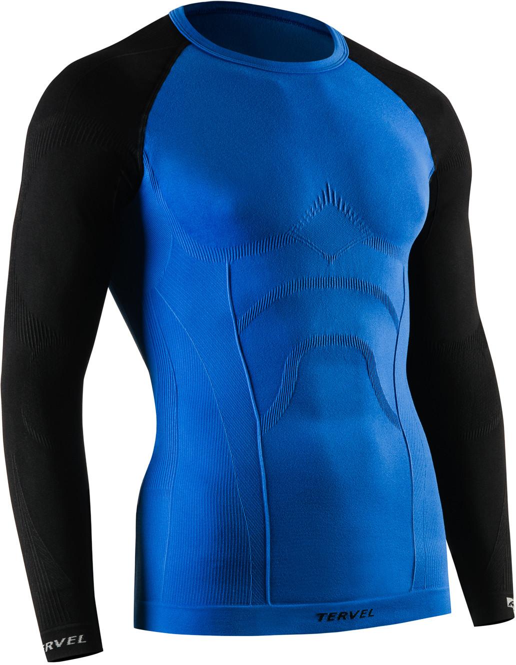 TERVEL COMFORTLINE 1002 męska koszulka termoaktywna długi rękaw kolor Niebieski-czarny