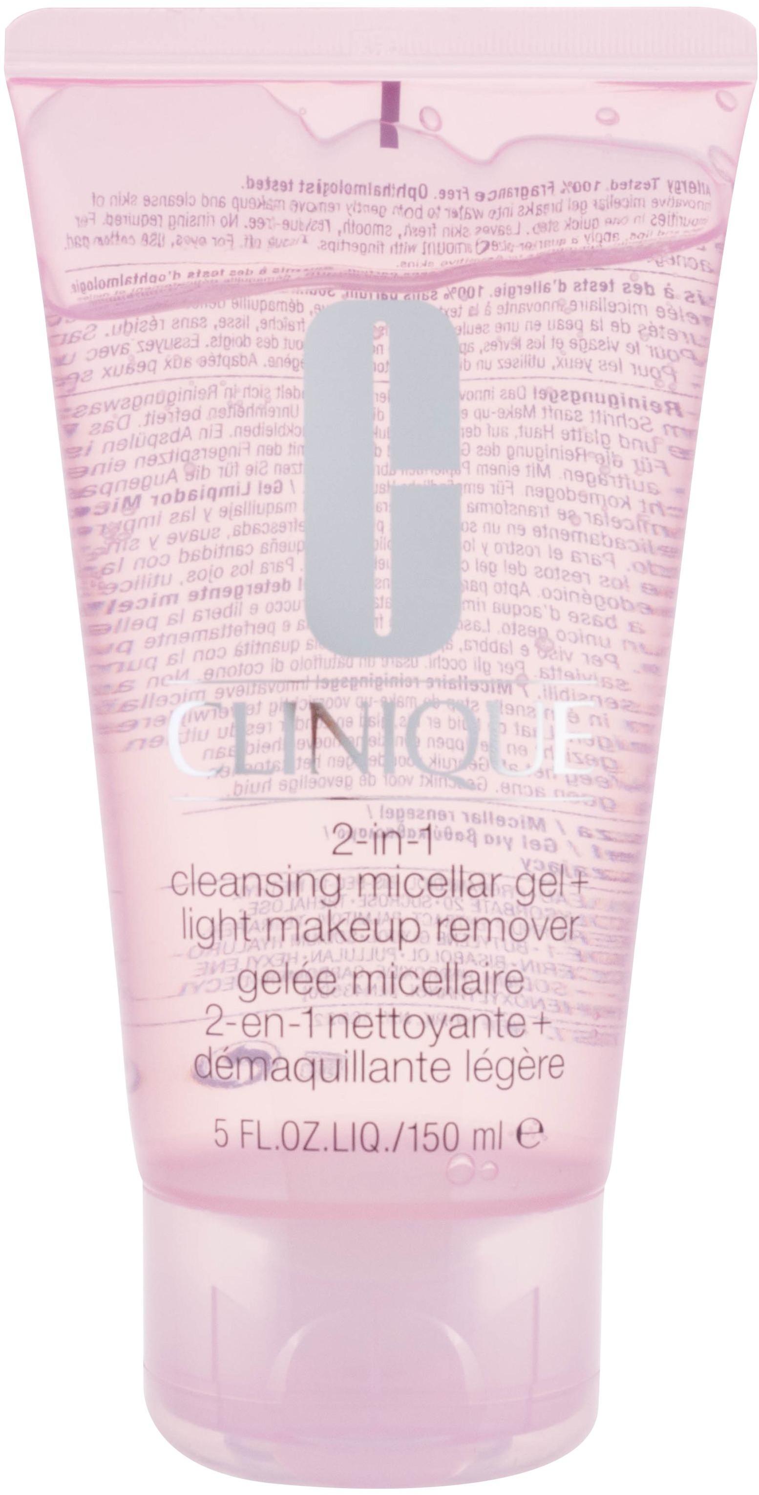 Clinique 2in1 Cleansing Micellar Gel demakijaż twarzy 150 ml dla kobiet