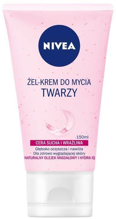 Nivea Żel-krem do mycia twarzy cera sucha i wrażliwa 150ml 92528-uniw