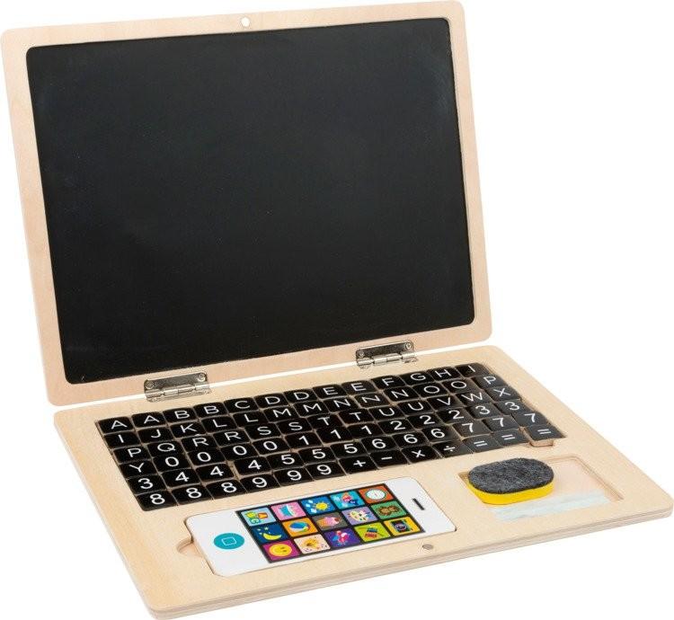 Small Foot Drewniany laptop ze smartfonem 11193 Small Foot 725658