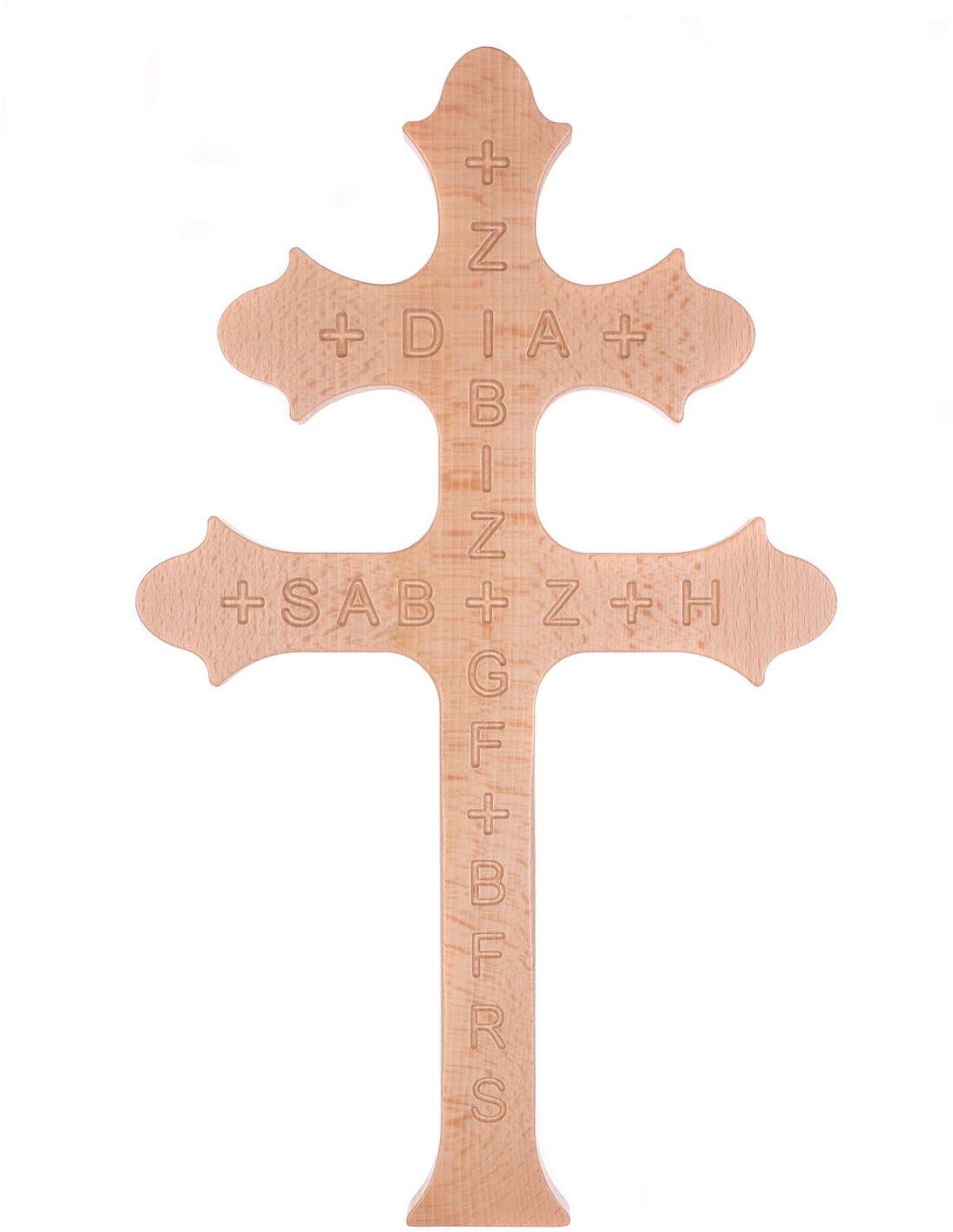 Krzyż św. Zachariasza -krzyż morowy, karawaka - 42 cm URC2442