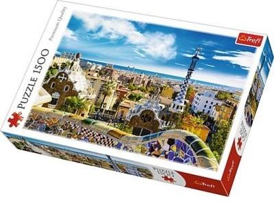 Trefl Puzzle 1500 elementów Park Guell, Barcelona