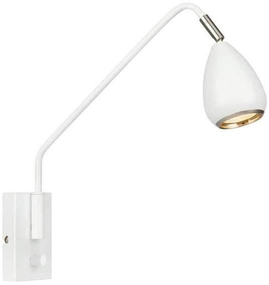 Markslojd Kinkiet LAMPA ścienna BIKE 107335 regulowana OPRAWA na wysięgniku reflektorek biały 107335