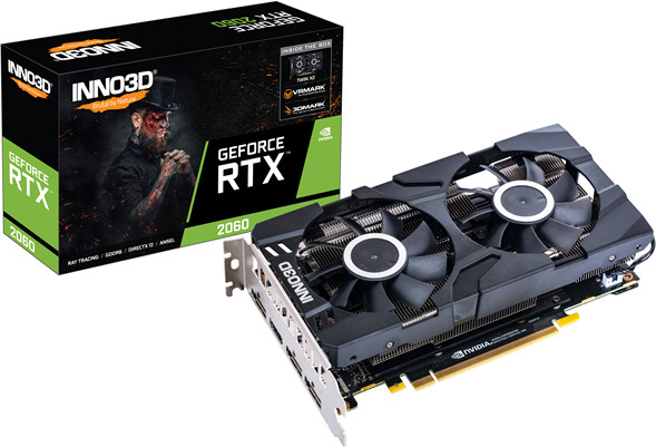 Inno3D GeForce RTX 2060 Twin X2 6GB GDDR6 (N20602-06D6-1710VA23)