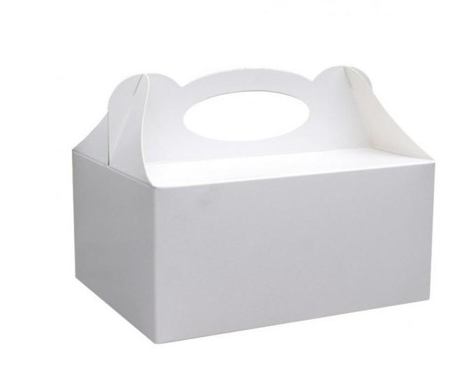 Dekoracjepolska Pudełko na ciasto białe 1 sztuka PUDC PUDC