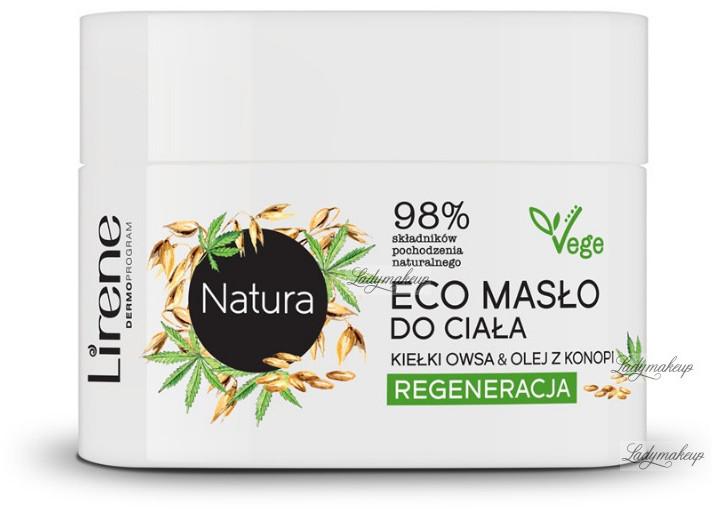 Lirene Natura - Regenerujące masło do ciała - Kiełki Owsa & Olej z Konopi - 200 ml