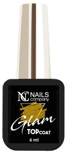 NAILS COMPANY GLAM TOP COAT GOLD Nails Company 6 ml -  bez przemywania