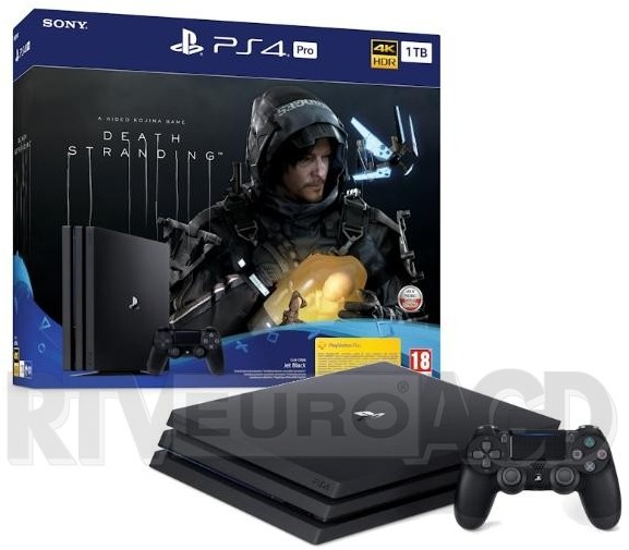 Sony PlayStation 4 Pro 1TB czarna + Death Stranding