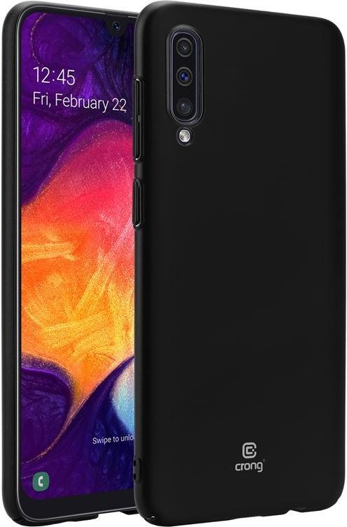 Samsung crong Crong Smooth Skin Etui Galaxy A50 czarny