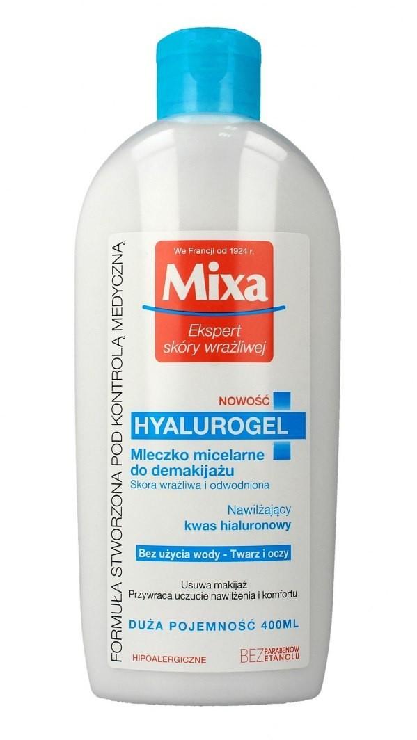 Mixa Mleczko micelarne do demakijażu Hyalurogel - skóra wrażliwa i odwodniona 400ml