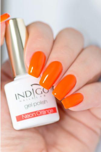 Indigo Indigo Neon Orange Gel Polish 7ml INDI311
