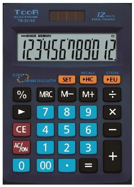 Kalkulator biurowy 12-pozycyjny TR-2216 TOOR