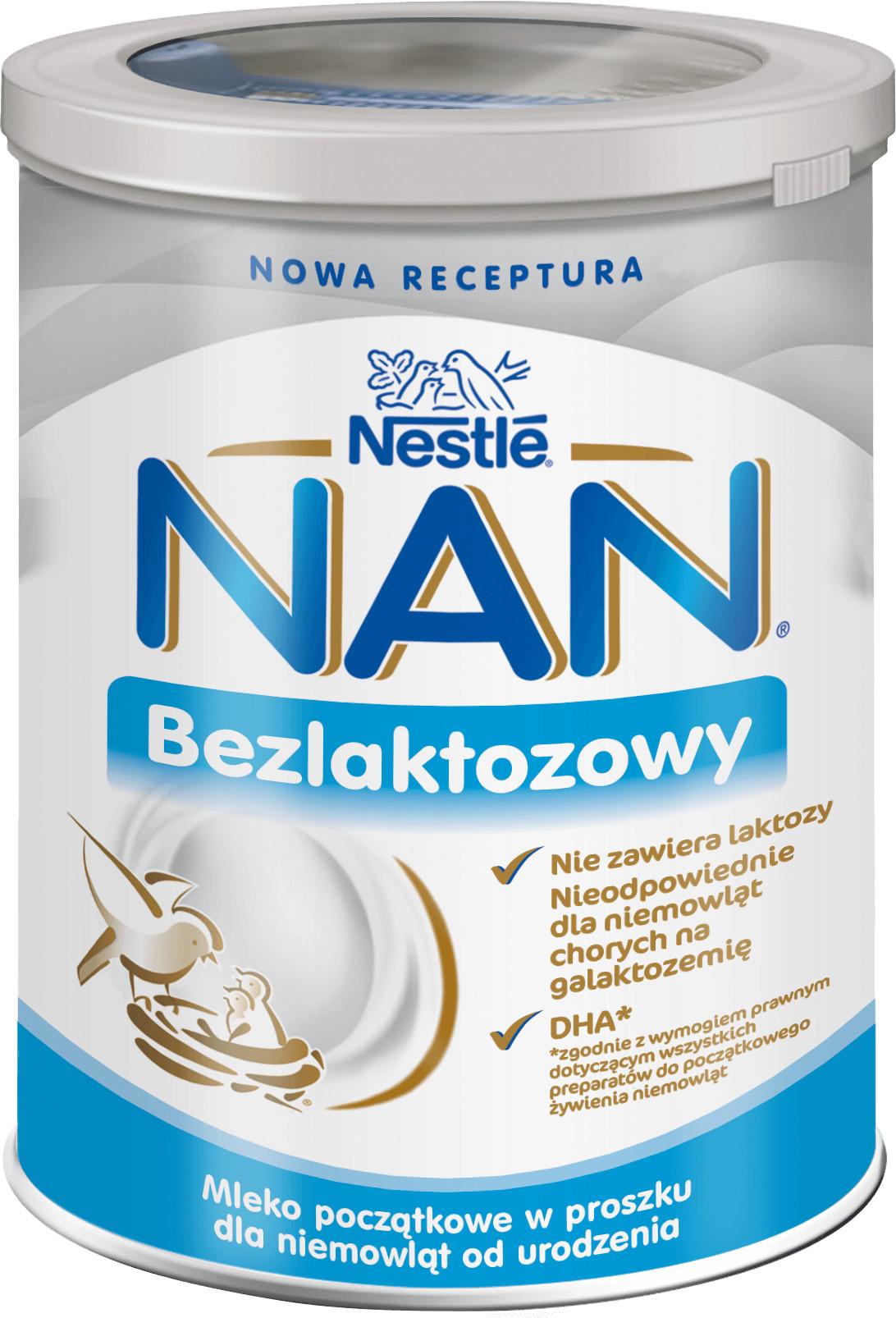 Nestle NAN Bezlaktozowy 1 400 g