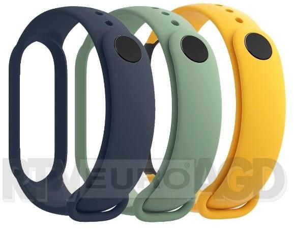 Xiaomi Xiaomi 3x paski Mi Band 5 niebieski żółty zielony 29765