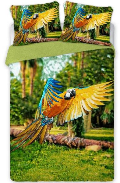 Bawełniana Pościel Perkal Papuga 08017