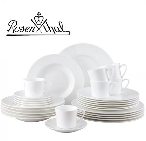 Rosenthal ROSENTHAL JADE serwis obiadowo - kawowy 30el - biały, zestaw, porcelana premium fine bone 6035-43286