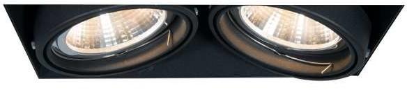 Zuma Line Podtynkowa LAMPA sufitowa ONEON 94364-BK prostokątna OPRAWA metalowy WPUST do zabudowy czarny 94364-BK