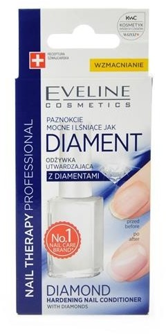 Eveline Nail Therapy Professional Diamond odżywka utwardzająca z diamentami 12ml