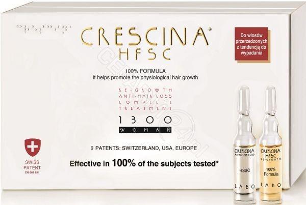 LABO COSPROPROPHAR Crescina Hfsc 100% Complete Treatment i Anti-Hair Loss 1300 zaawansowana faza przerzedzenia włosów dla kobiet x 10+10 amp produkt dostępny na zamówienie czas oczekiwania 3-5 dni roboczych | DARMO