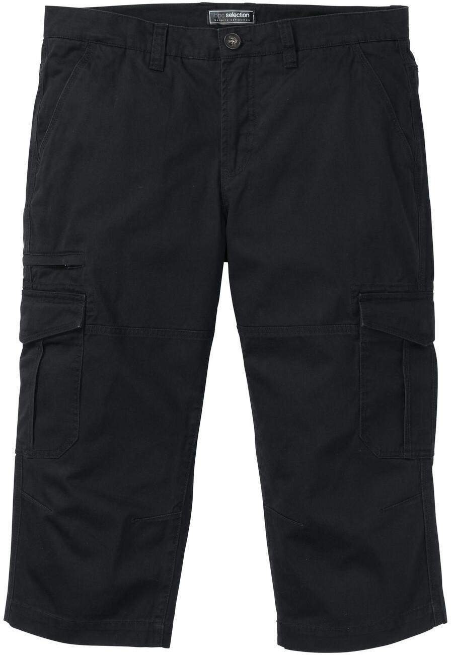 Bonprix Spodnie bojówki 3/4 Loose Fit czarny