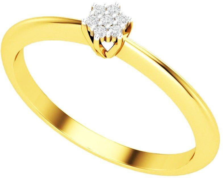 Pierścionek Zaręczynowy Złoty z Brylantami 375 - Żółte Złoto 6750