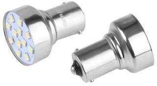 Vision Żarówka VISION P21W BA15s 12V 12x 2835 SMD LED biała 2 szt WE24-9846