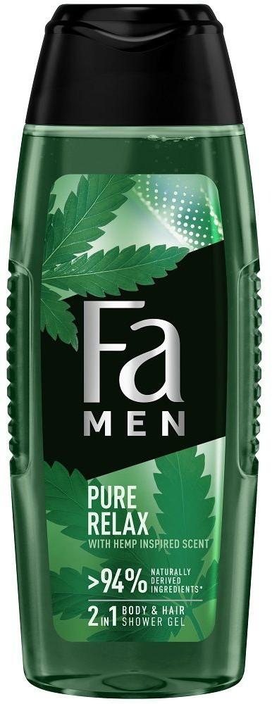 Fa Men Pure Relax 2in1 Shower Gel 250ml żel do mycia ciała i włosów dla mężczyzn